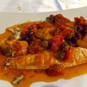 Filetti di branzino alla siciliana *