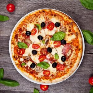 Pizza senza glutine farcita